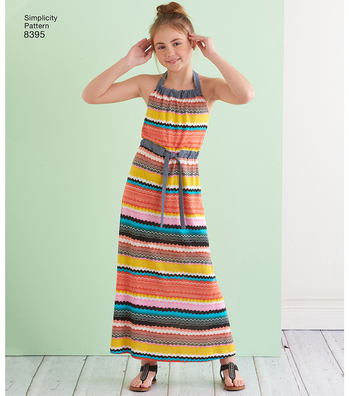 Simplicity Pattern 8395 Girls\u0027 Halter Dress or Romper-Size HH (3-4-5-6)