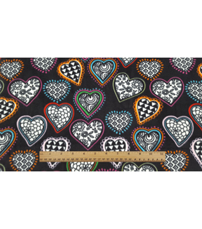 Anti-Pill Fleece Fabric 59\u0022-Kaleidescope Hearts