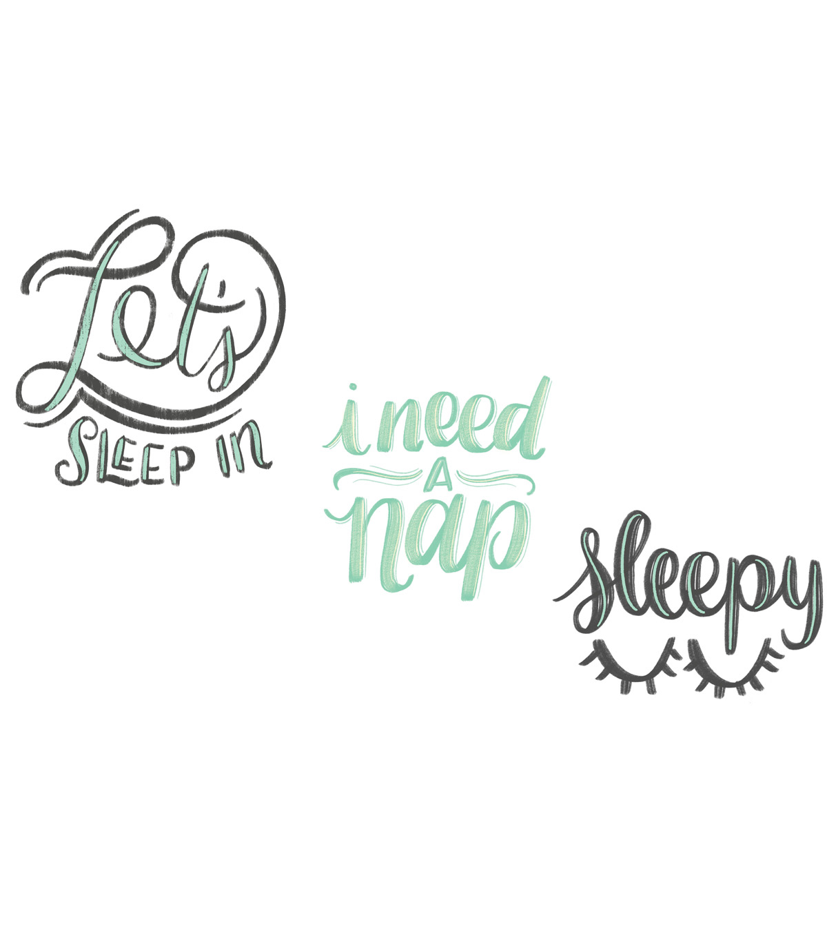 Cricut Small Iron-On Design-Let\u0027s Sleep In, I Need a Nap, Sleepy