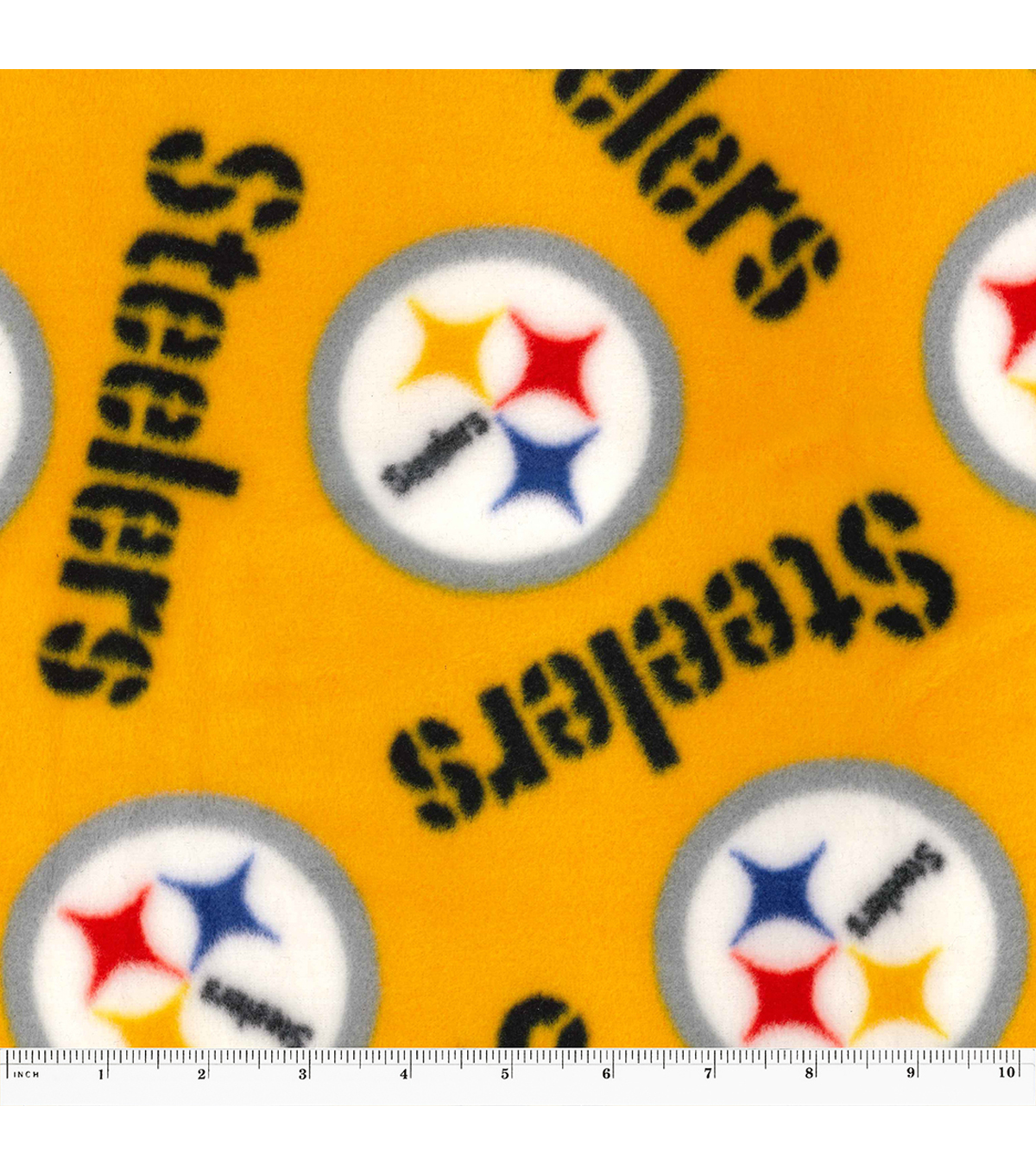 Pittsburgh Steelers Fleece Fabric -Yellow
