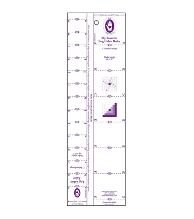 Marti Michell Log Cabin Ruler-1\u0022 To 2\u0022 Strips
