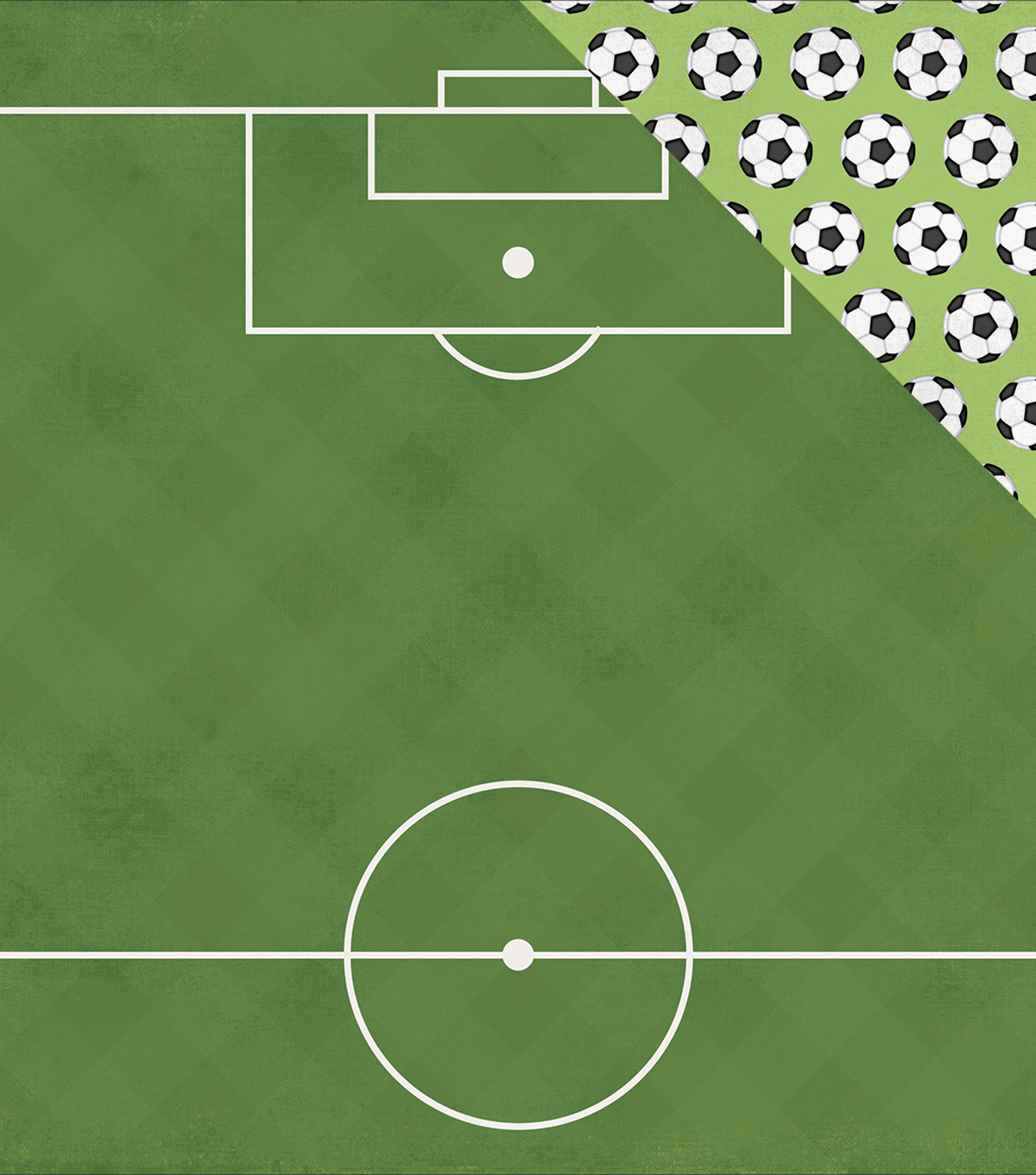 Simple Sets Soccer Double-Sided Cardstock 12\u0022X12\u0022-Pass Shoot Score