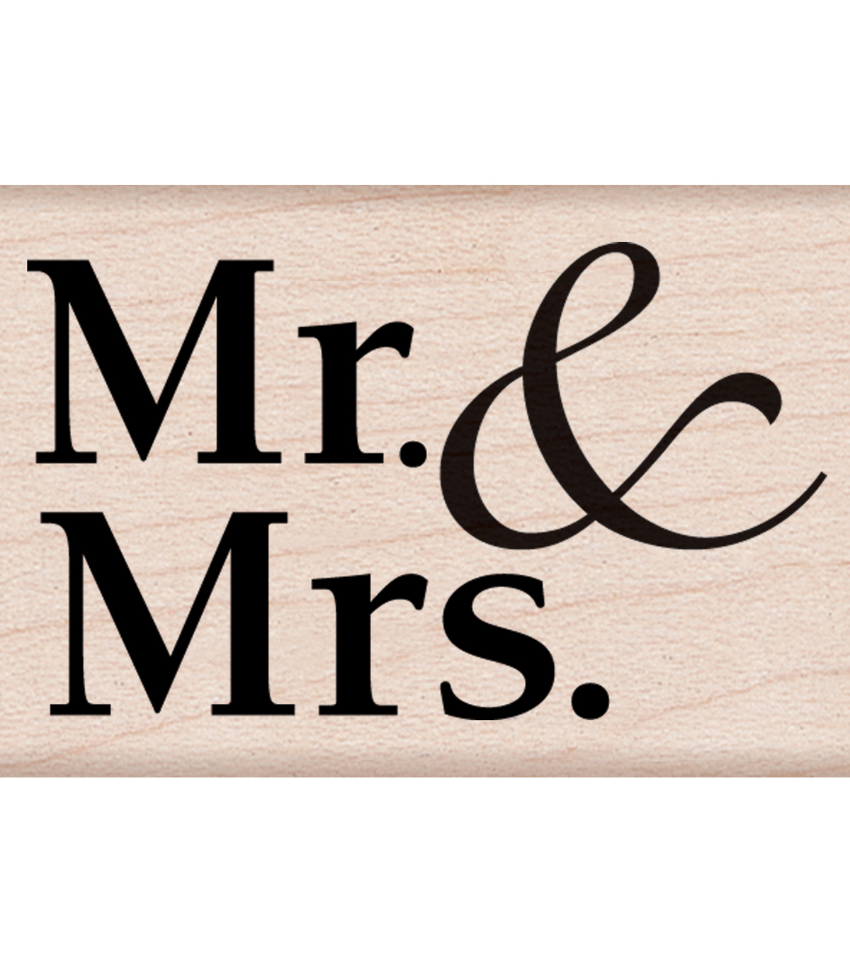 Hero Arts Wood Mounted Rubber Stamps-Mr. & Mrs.