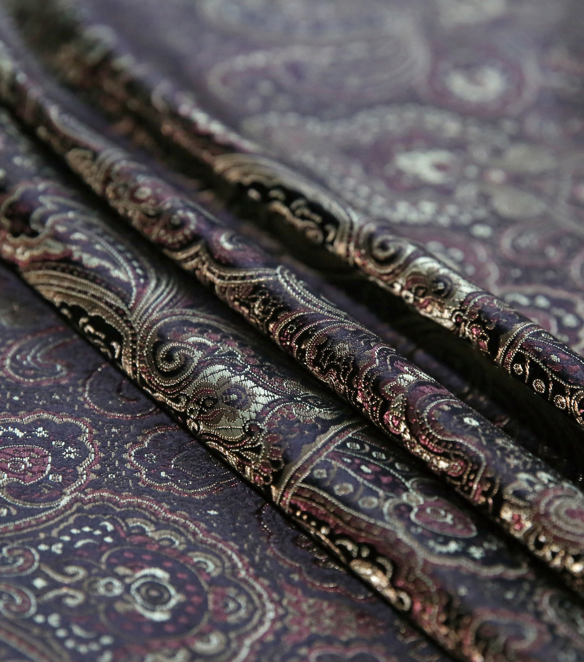Brocade Fabric -Wild Tapestry on Brown