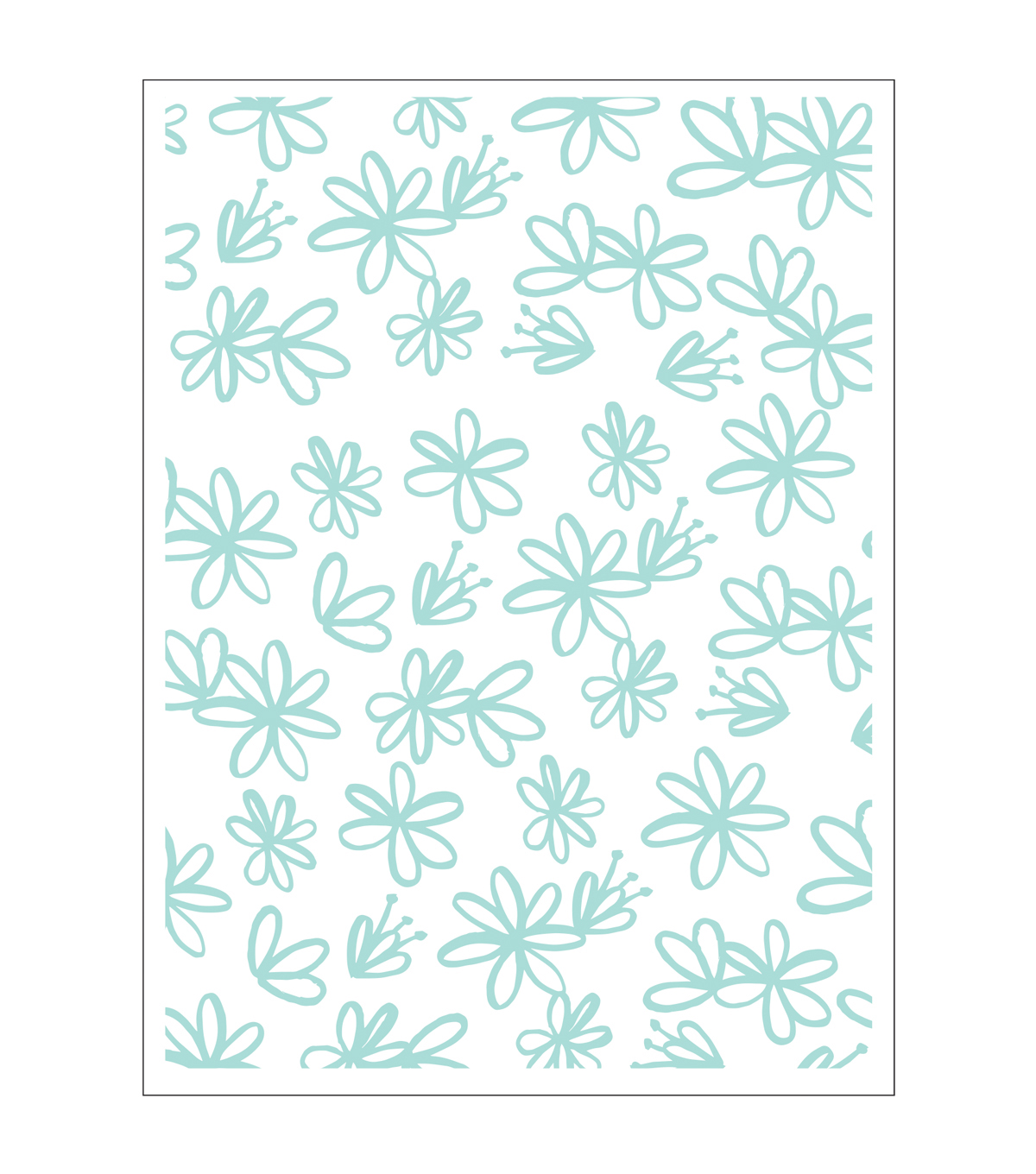 Park Lane A2 Embossing Folder-Sketch Floral