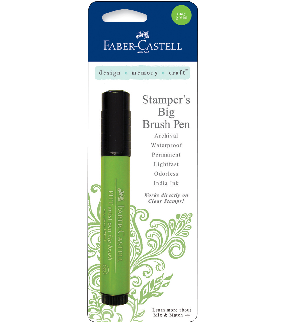 Faber-Castell design-memory-craft Mix & Match Stamper\u0027s Big Brush Pen , May Green