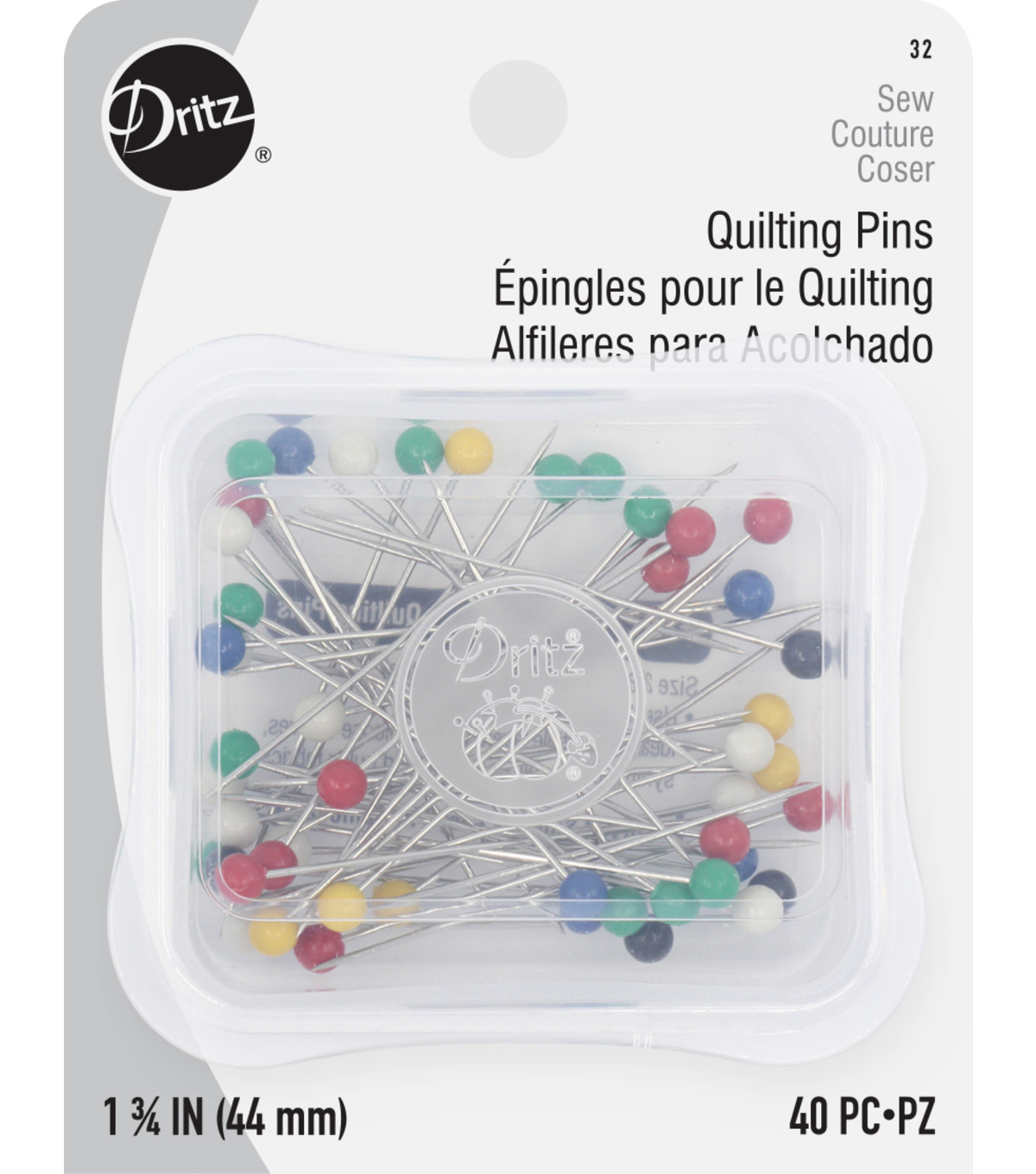 Dritz Super Large Head Pins-Size 28 40/Pkg