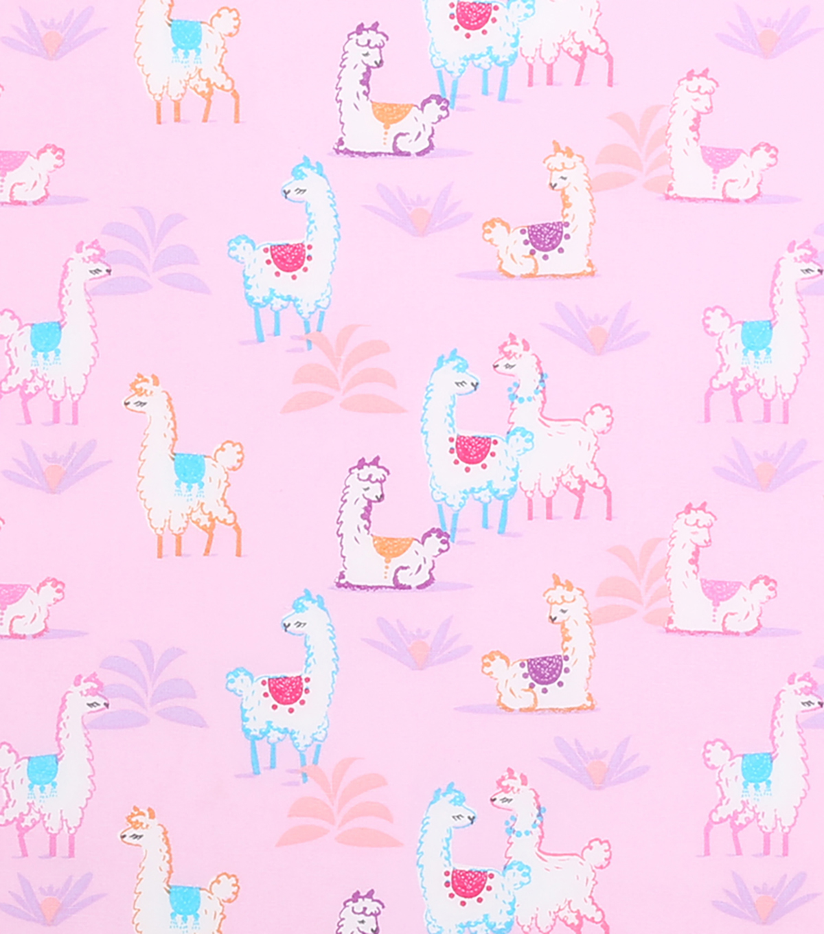 Novelty Cotton Fabric 43\u0027\u0027-Llamas