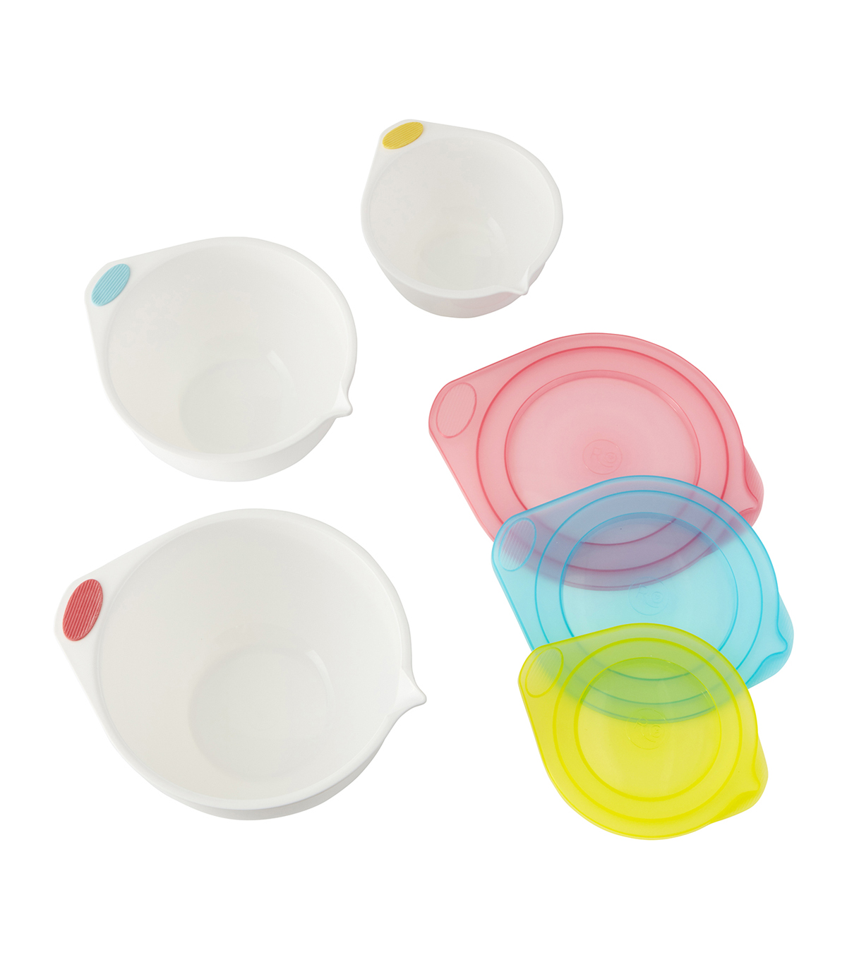 Rosanna Pansino By Wilton 6pc Covered Mixing Bowl Set
