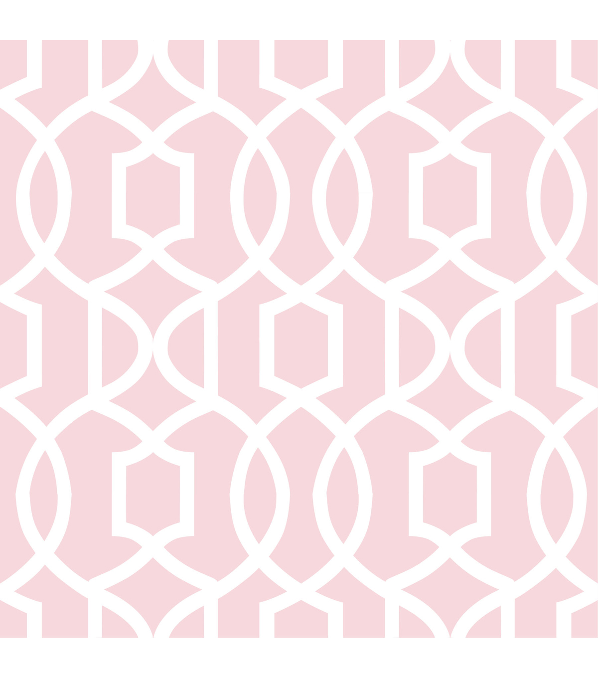 WallPopsNuWallpaper Pink Grand Trellis Peel And Stick Wallpaper