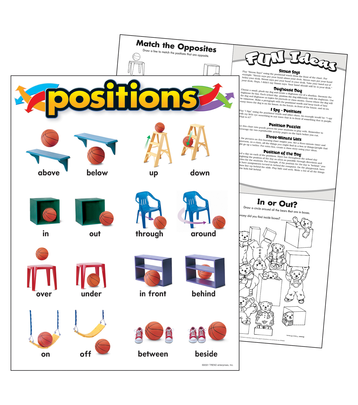 Positions Learning Chart 17\u0022x22\u0022 6pk