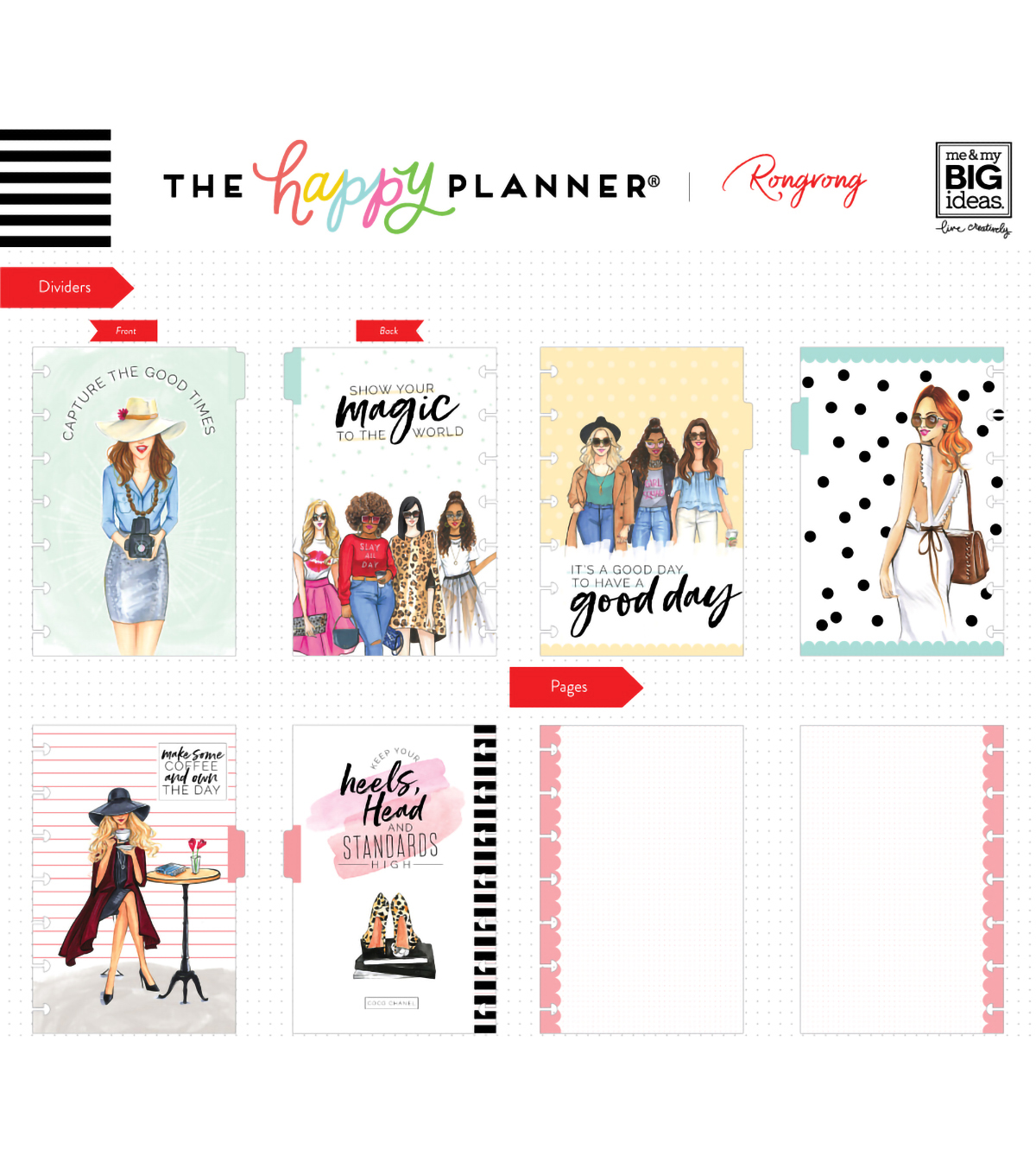 The Happy Planner x Rongrong Mini Happy Notes-Slay All Day