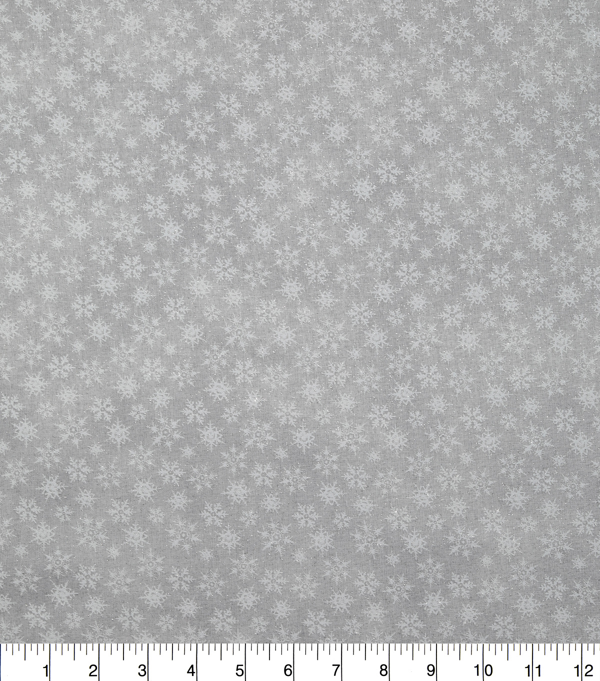 Christmas Glitter Textured Cotton Fabric-White Snowflakes