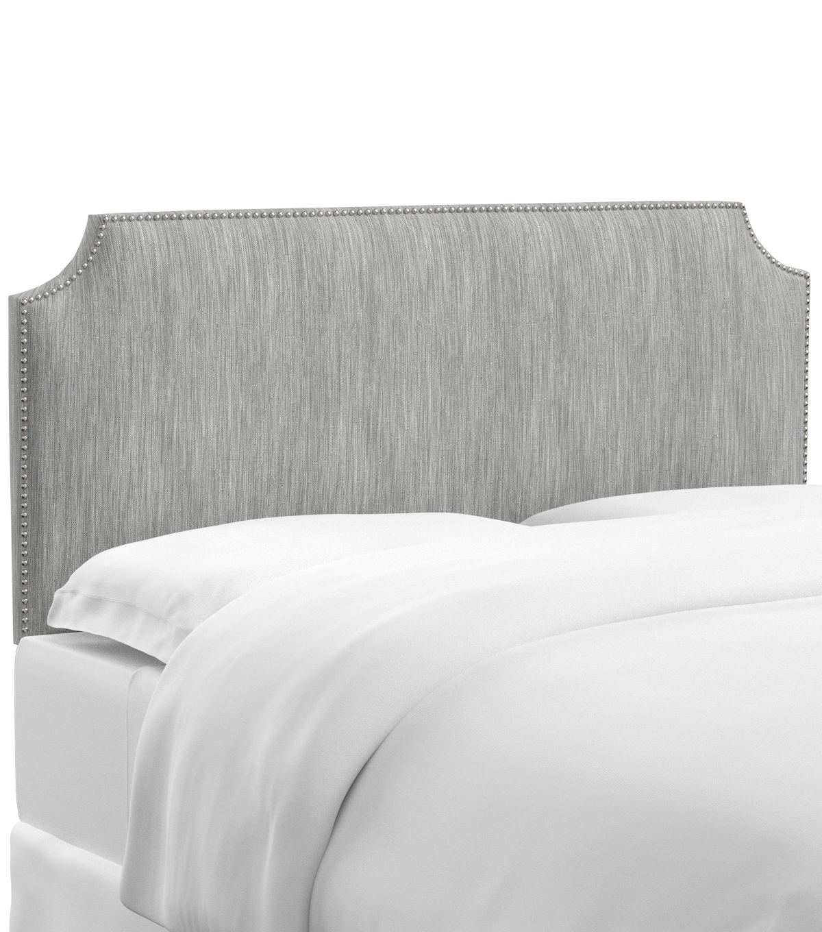 Skyline Furniture Notched Nail Button Headboard-Twin