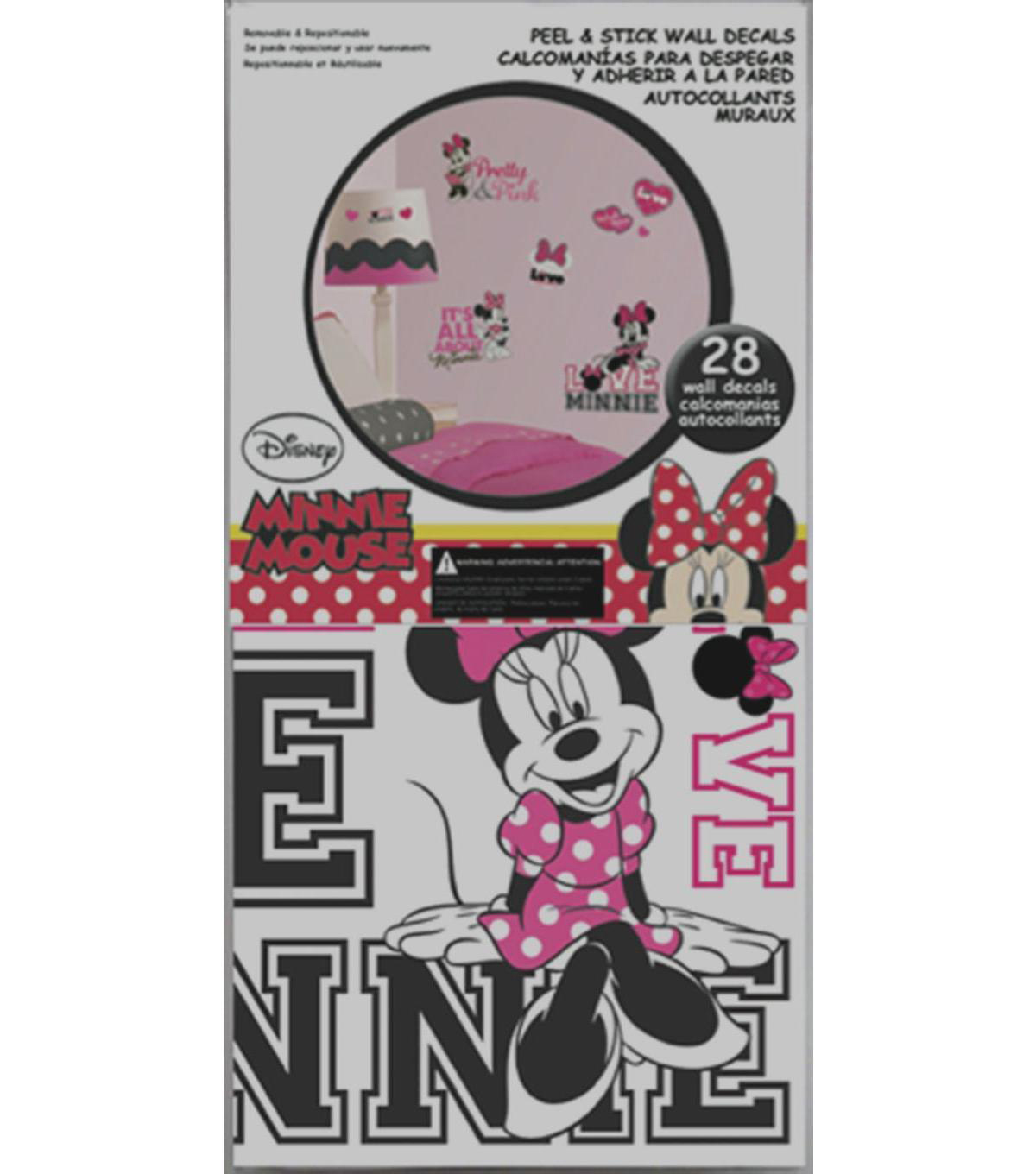 York Wallcoverings Wall Decals-Minnie Loves Pink