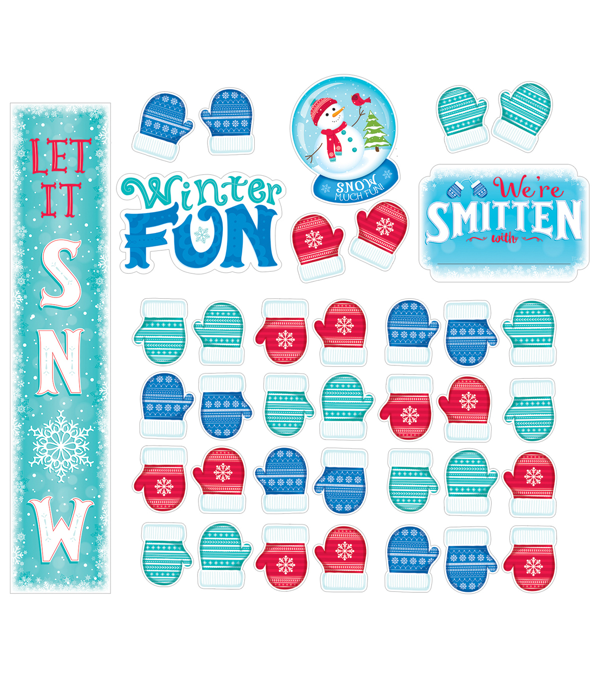 Snow Much Fun Bulletin Board Set, 3 Sets