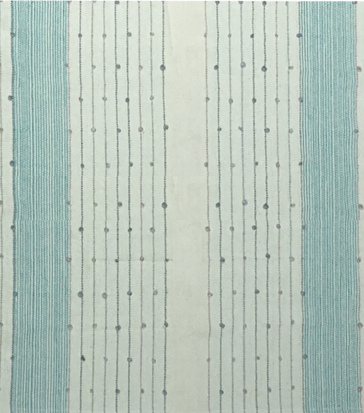 Lightweight Décor Fabric-Aqua 3D Dots