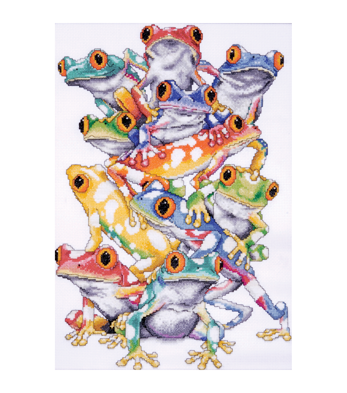 Frog Pile Counted Cross Stitch Kit-11\u0022X16\u0022 14 Count