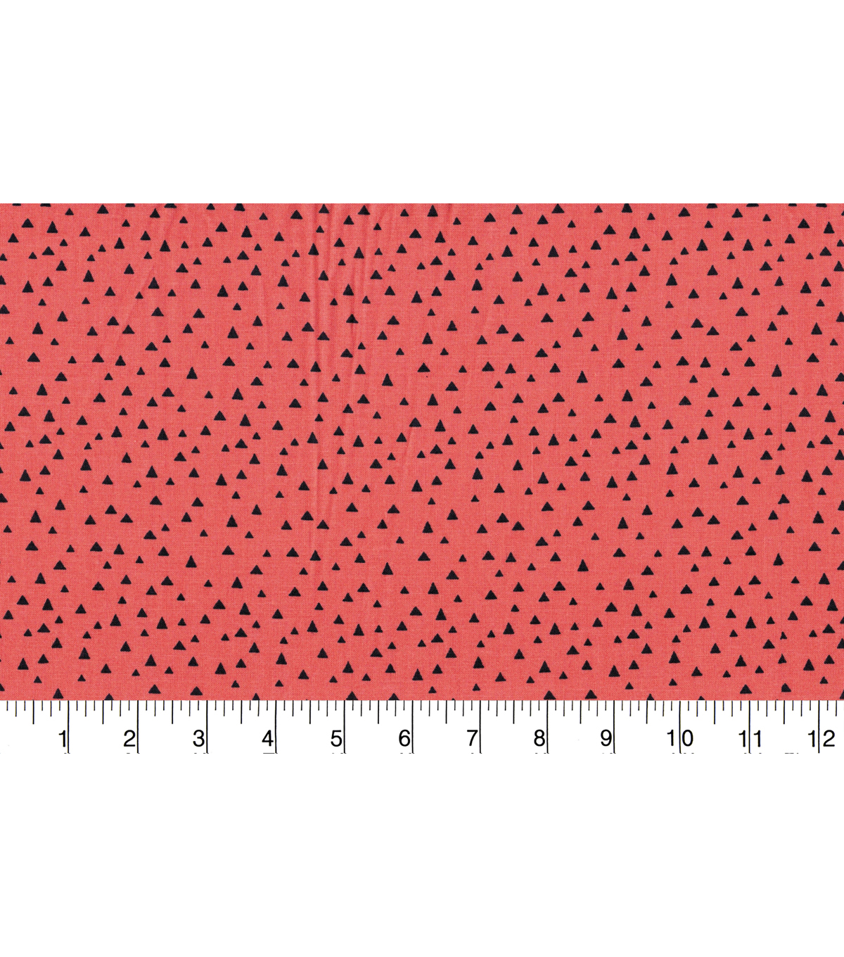 Quilter\u0027s Showcase Fabric -Navy Fusion Triangle on Coral