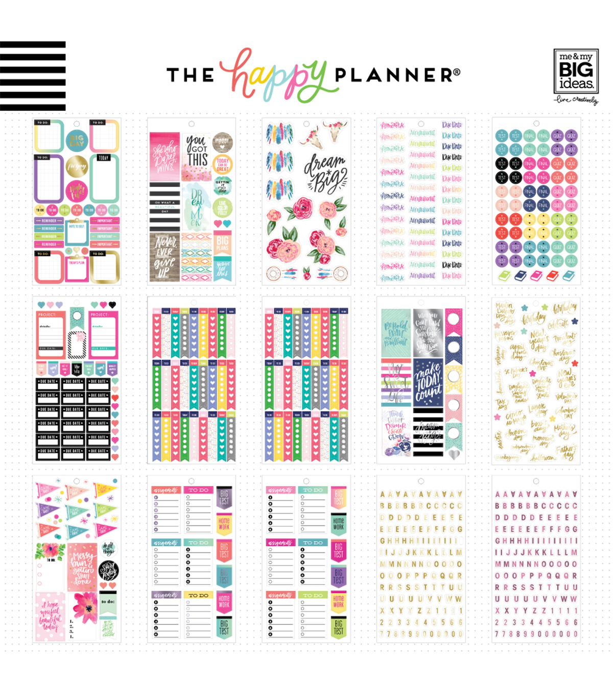 The Happy Planner Sticker Value Pack-Fri Yay Student