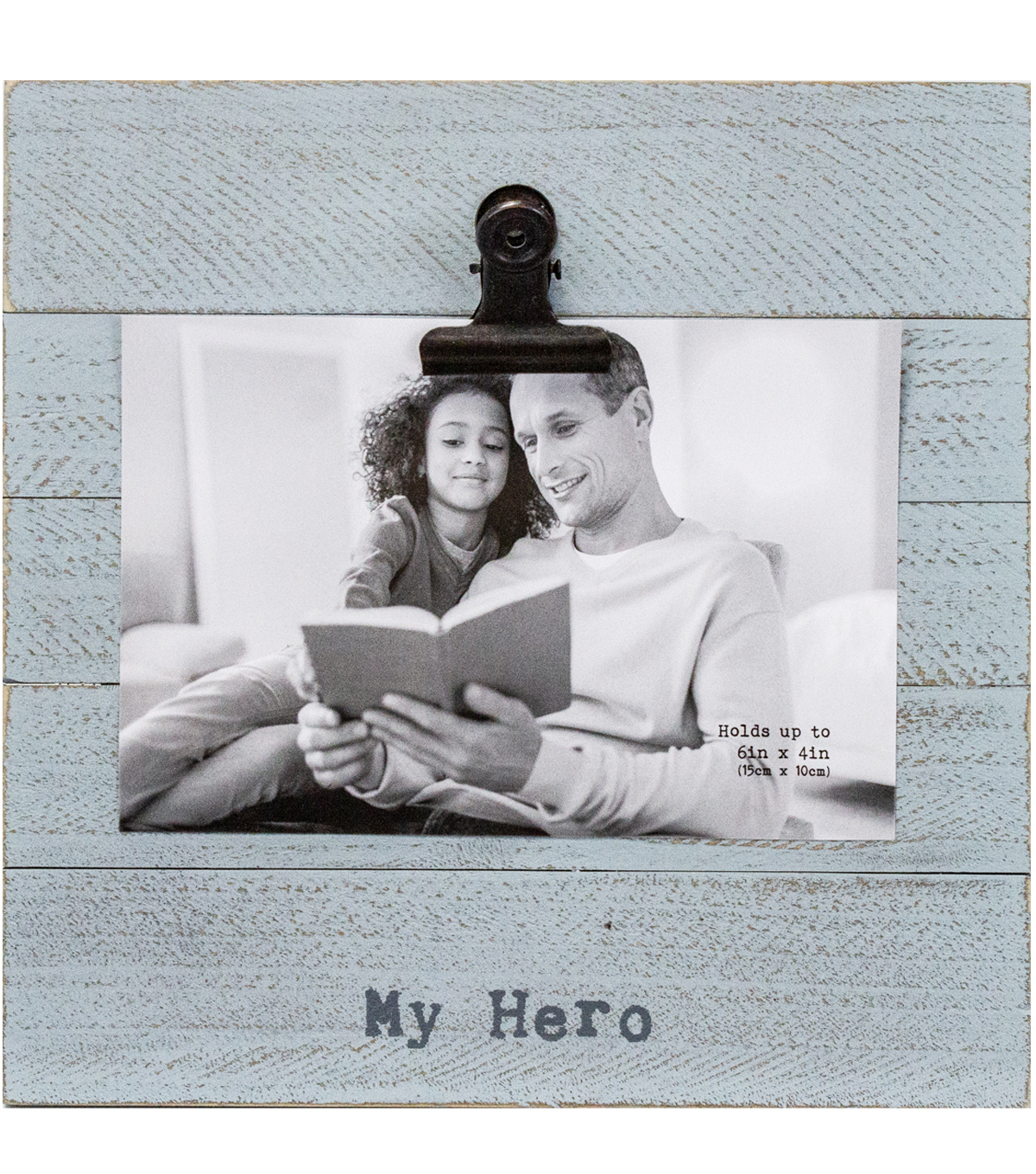 Beadboard Photo Frame with Clip 4\u0027\u0027x6\u0027\u0027-My Hero