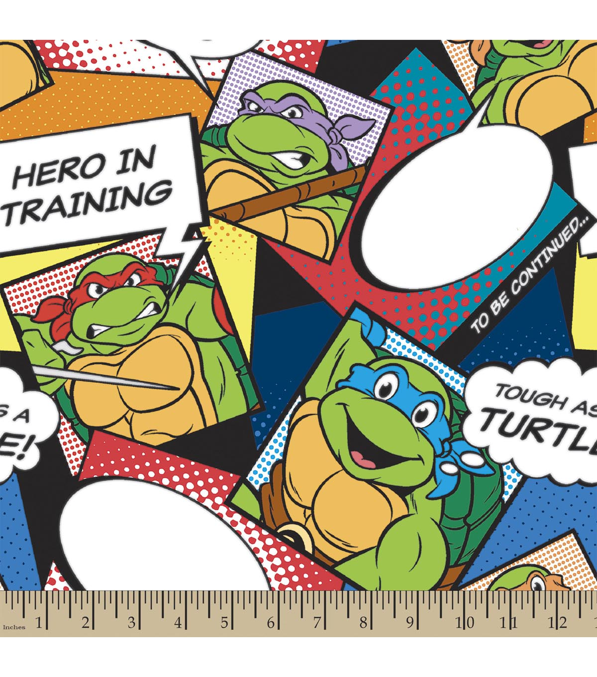 Teenage Mutant Ninja Turtles Print Fabric-Turtles Style