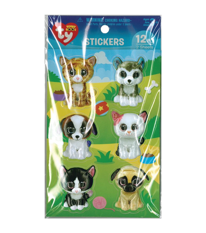 Darice Beanie Boo 12pcs 3D Stickers-Pet  d41a55d00f7