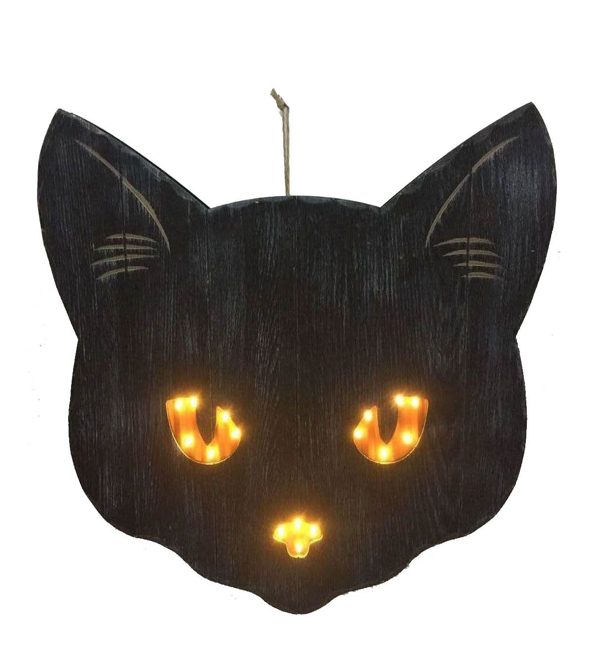 Maker\u0027s Halloween Cat Head Wall Decor-Black