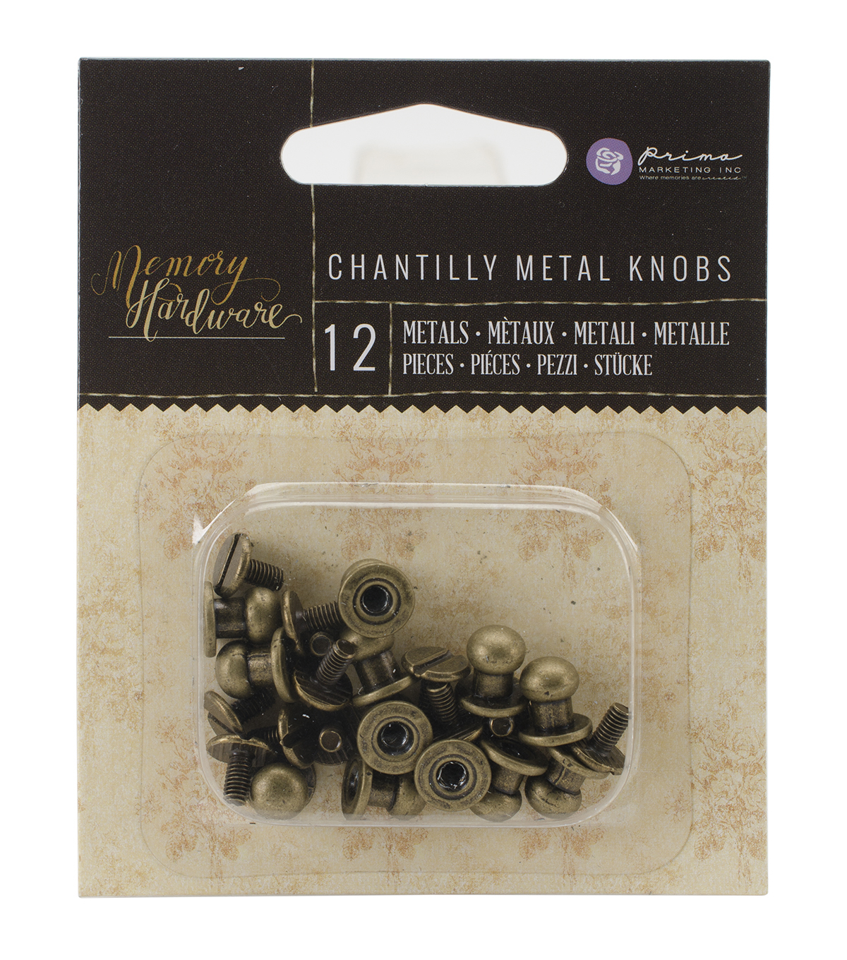 Prima Marketing Memory Hardware Metal Knobs Embellishments