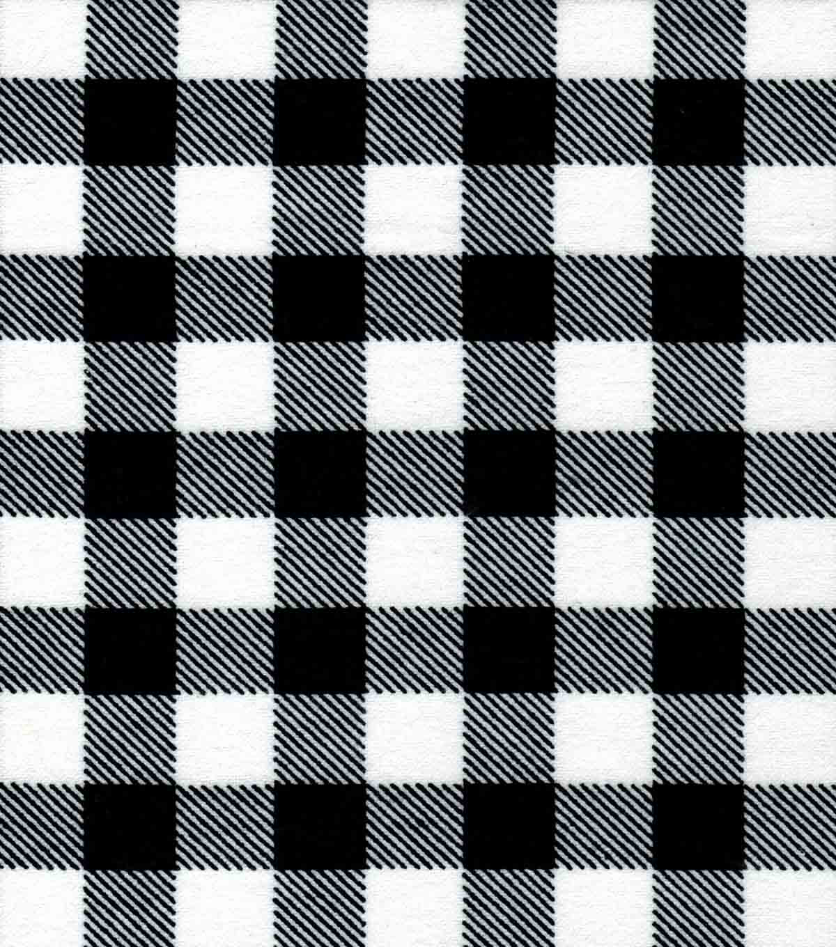 Quilter\u0027s Flannel Fabric -Buffalo Plaid Black