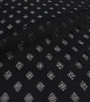 Performance Bonded Mesh Fabric 57\u0022-Black