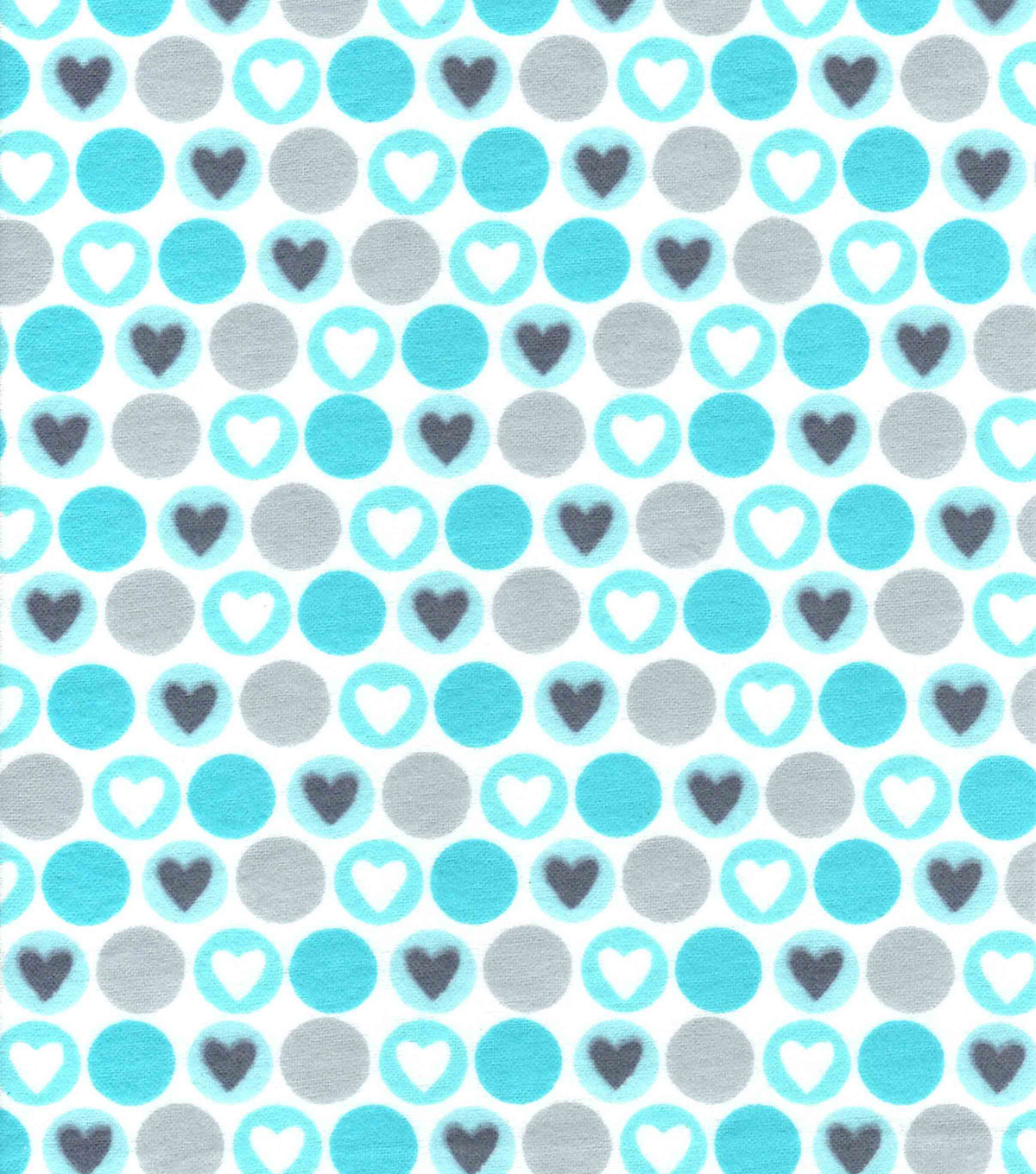 Snuggle Flannel Fabric -Blue Hearts & Dots