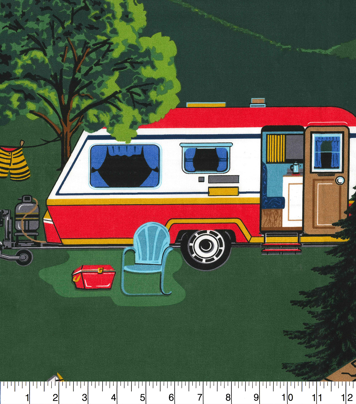 1 Yard Fabric Panel-Camper