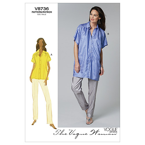 Mccall Pattern V8736 Ee (14-16--Vogue Pattern