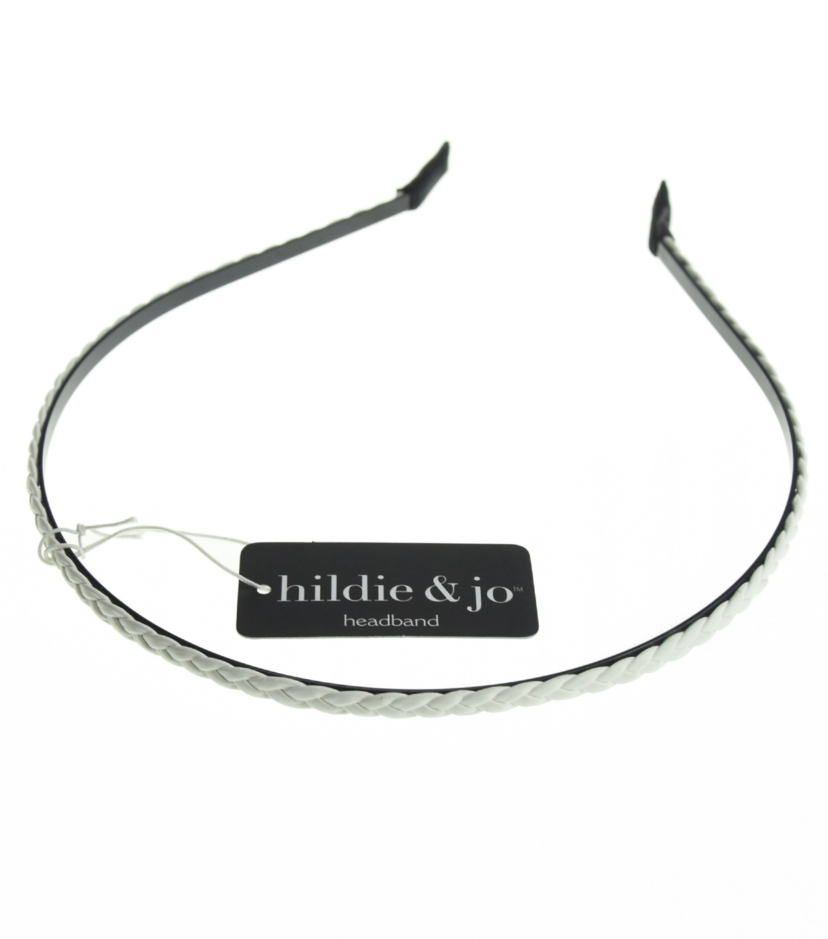hildie & jo Braided Headband-White