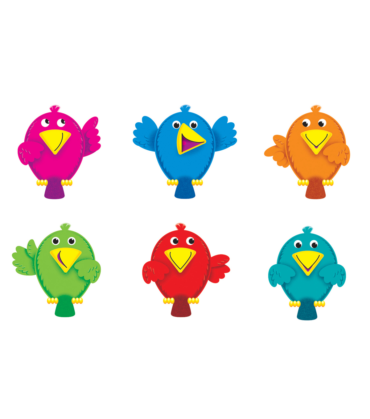 Trend Enterprises, Inc. Busy Birds Mini Accents, 36 Per Pack, 6 Packs