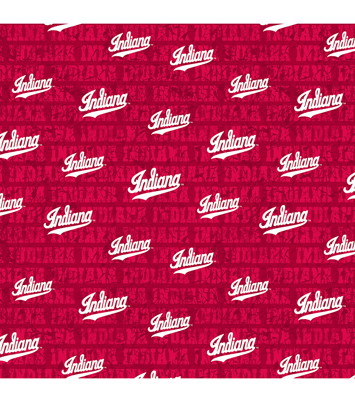 Indiana Hoosiers Cotton Fabric-Distressed