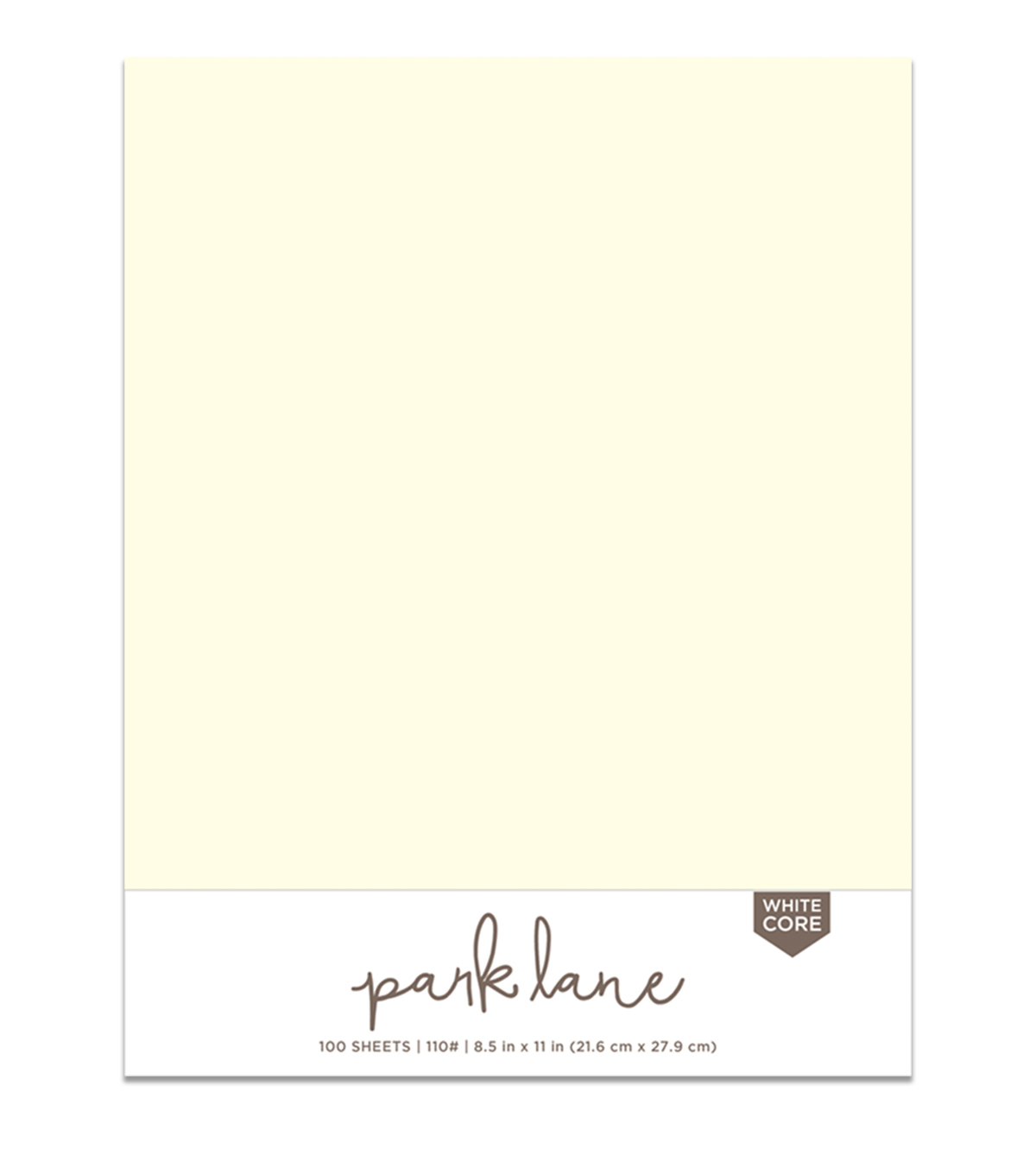 Park Lane Paperie 100 pk 8.5\u0027\u0027x11\u0027\u0027 Smooth Papers-Ivory