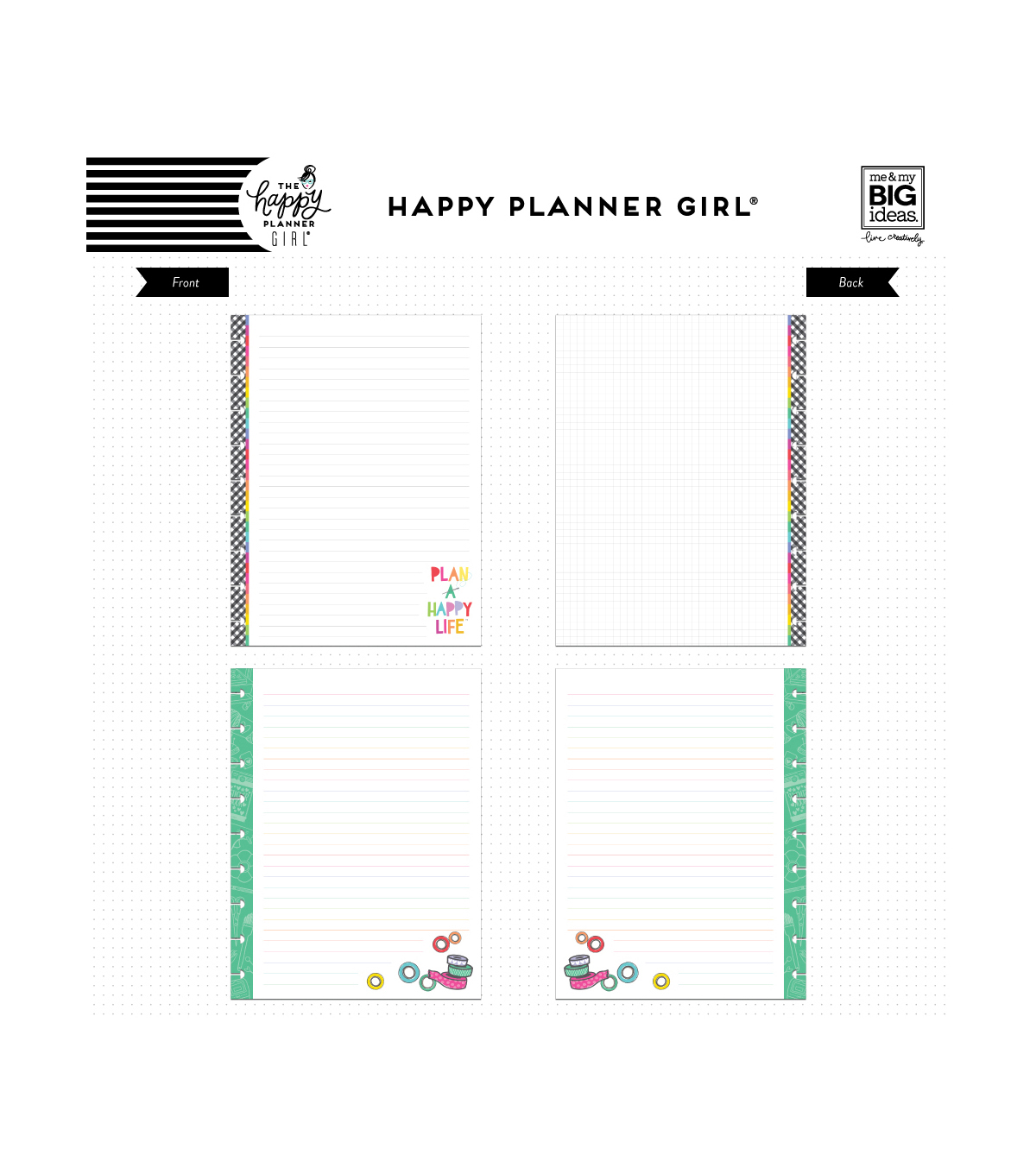 The Happy Planner Girl Classic Note Paper-Miss Maker