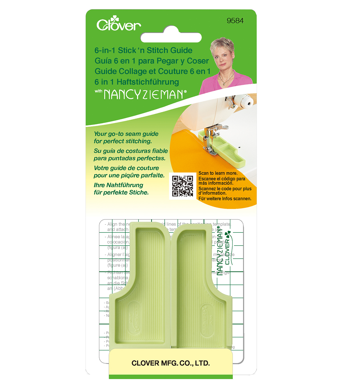 Clover Needlecraft 6-In-1 Stick & Stich Guide