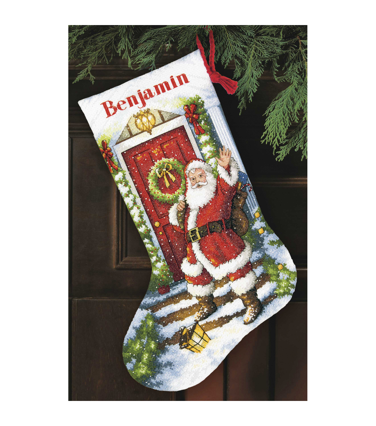 Dimensions Gold Counted Cross Stitch Kit Welcome Santa Stocking