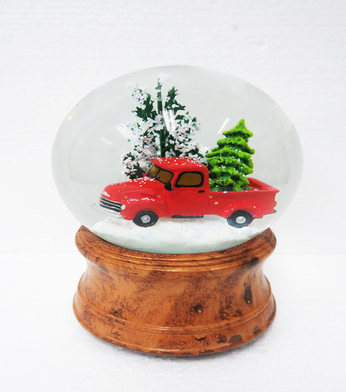 Maker\u0027s Holiday Christmas Truck with Tree Musical Globe