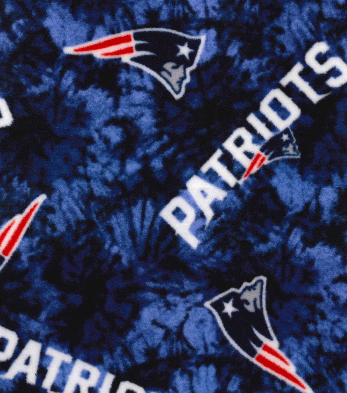 26d2f239 New England Patriots Fleece Fabric -Tie Dye