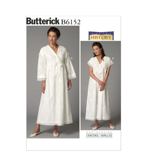 Butterick Pattern B6152-0Y0-Misses\u0027 Robe And Nightgown-Xsm-Sml-Med