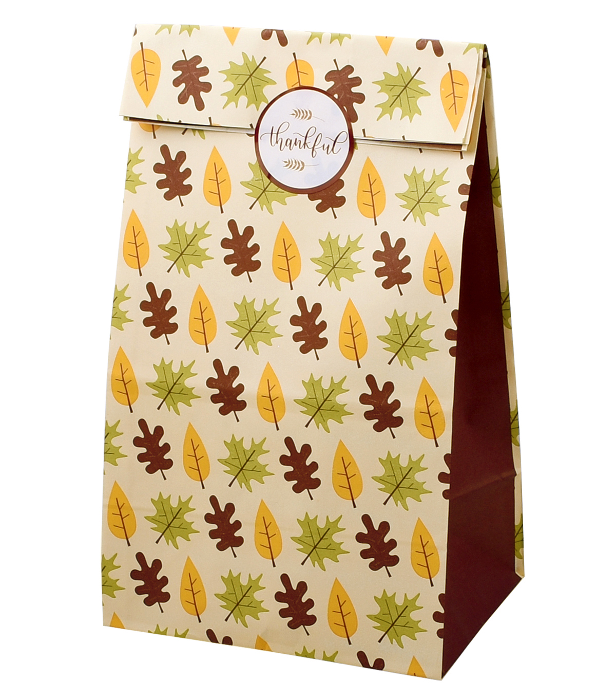Simply Autumn 10 pk Loaf Bag-Leaves & Thankful