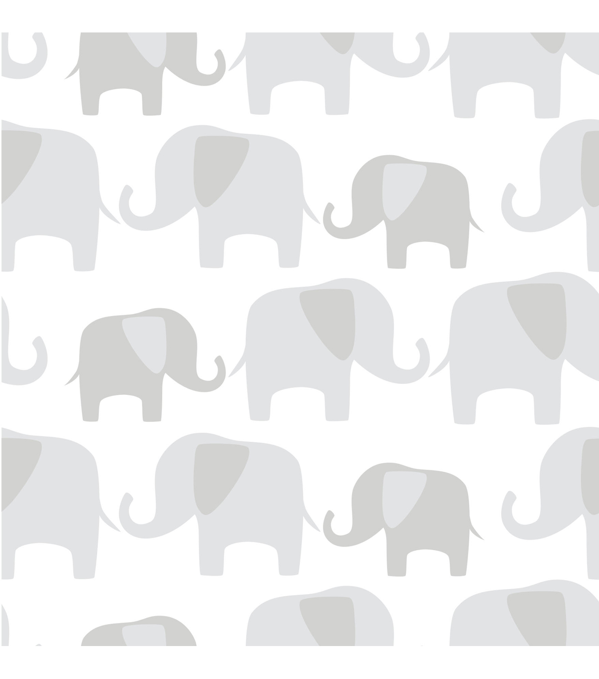 WallPopsNuWallpaper Gray Elephant Parade Peel And Stick Wallpaper