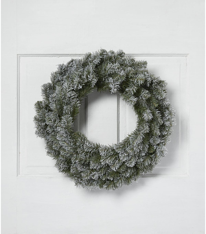 Blooming Holiday Christmas 24\u0027\u0027 PVC Flocked Canadian Pine Wreath