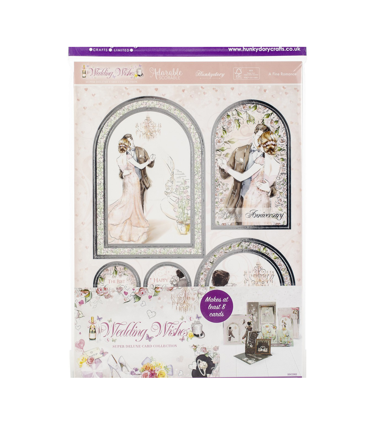 Hunkydory Wedding Wishes A4 Topper Collection-8 Super Deluxe Topper Sets