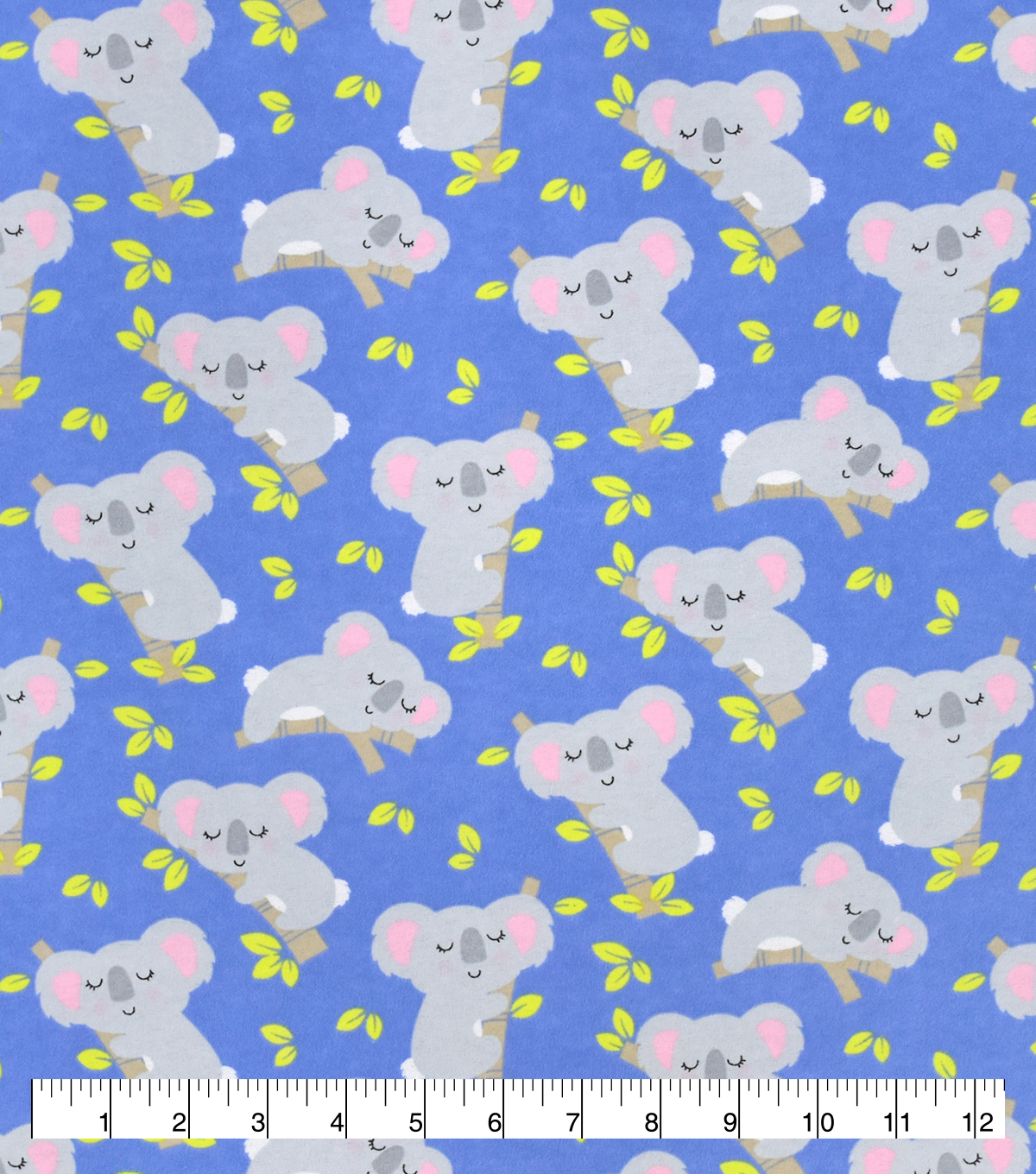 Snuggle Flannel Fabric-Sleeping Koala