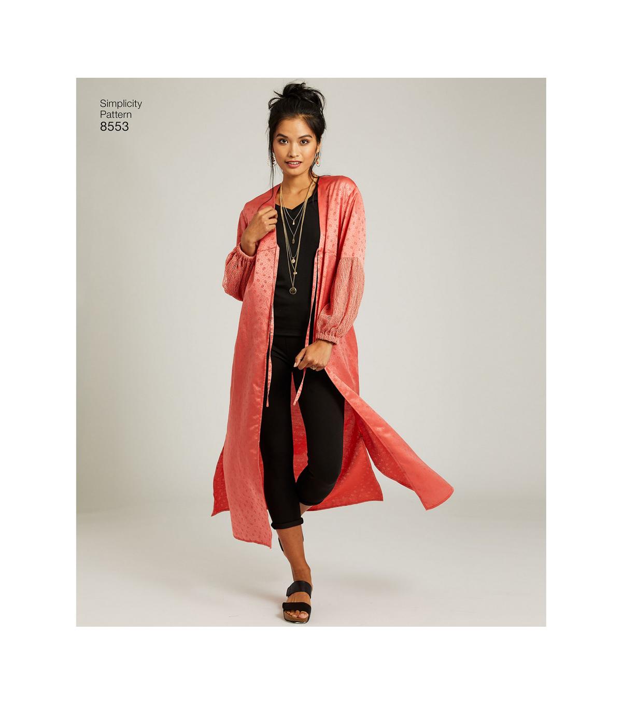Simplicity Easy-to-sew Misses/' Kimonos With Variations-xxs-xs-s-m-l-xl-xxl